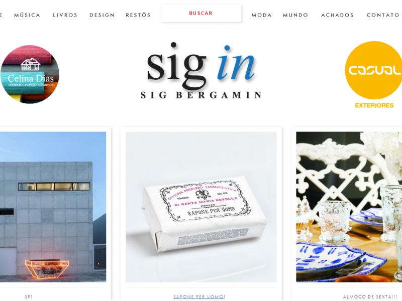 Sig Bergamin lança site